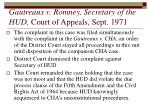 gautreaux v romney secretary of the hud court of appeals sept 1971