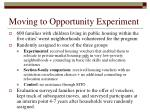 moving to opportunity experiment