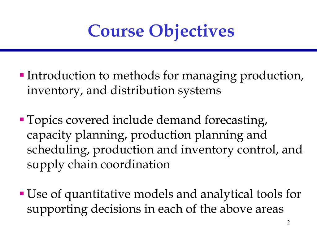 Demand Planning Methods