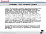 landmark case study response