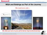 mqa and baldrige as part of the journey