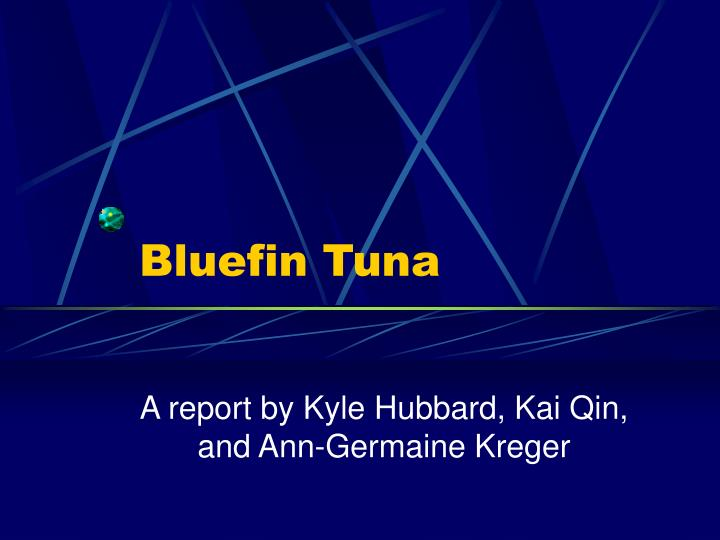 bluefin tuna n.