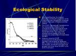 ecological stability