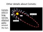 other details about comets1