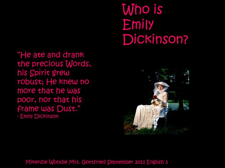who is emily dickinson n.