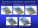 how does a mid latitude cyclone form