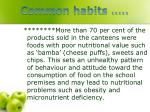common habits