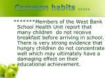 common habits1
