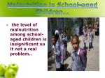 malnutrition in school aged children