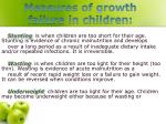 measures of growth failure in children