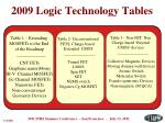 2009 logic technology tables