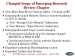 changed scope of emerging research devices chapter