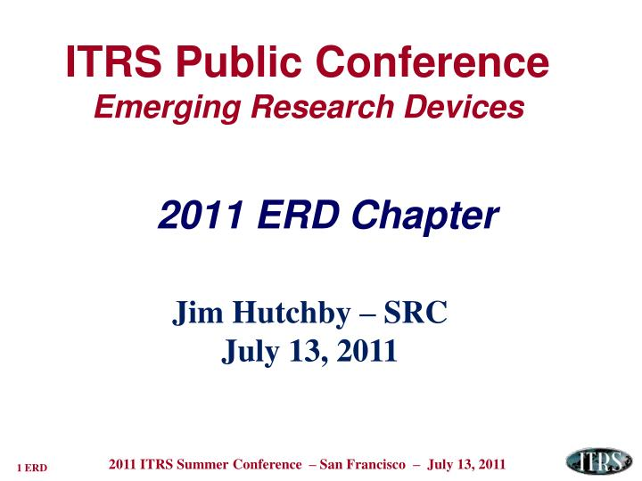 itrs public conference emerging research devices n.