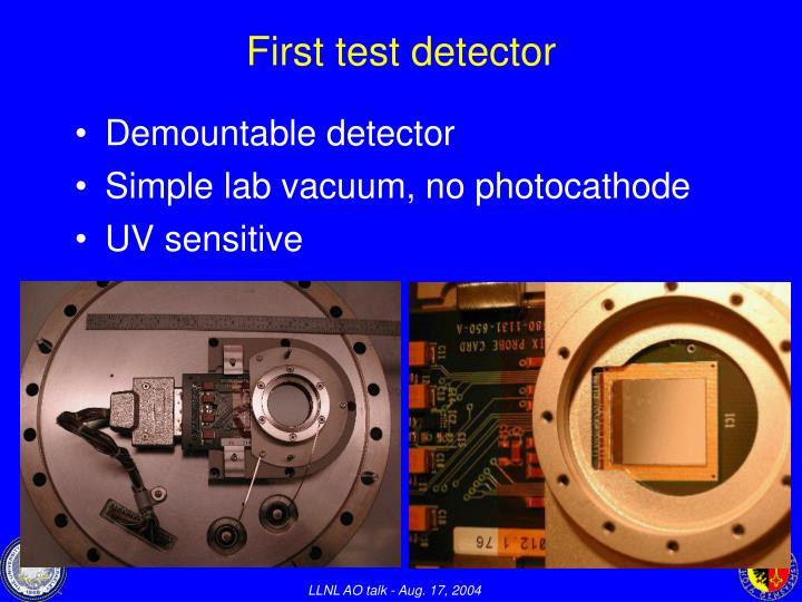 First test detector