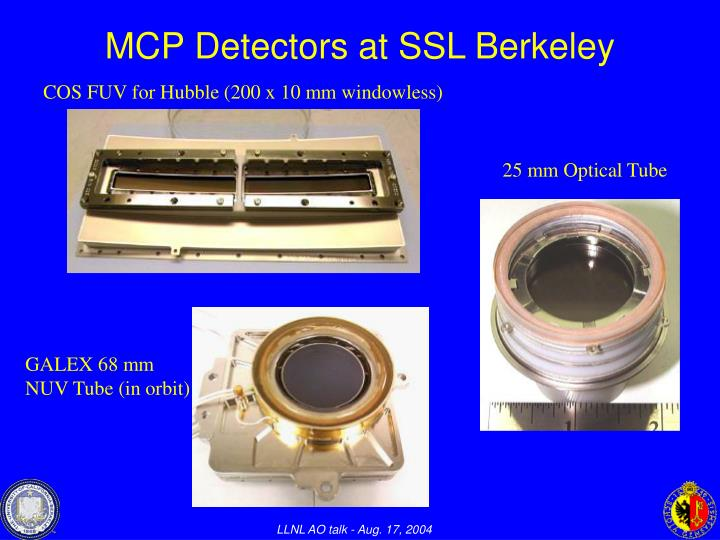MCP Detectors at SSL Berkeley