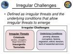 irregular challenges