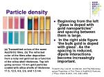 particle density