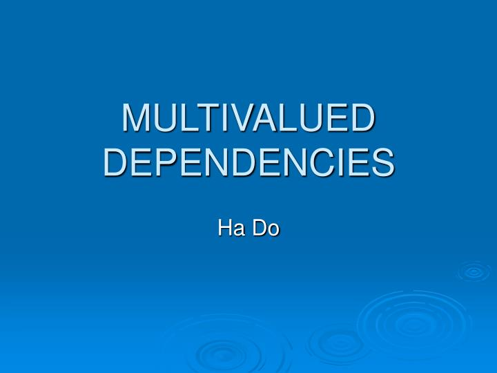 multivalued dependencies n.
