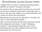 diversification can also increase returns