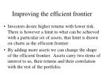 improving the efficient frontier