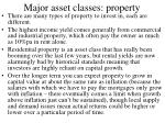 major asset classes property