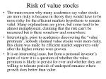 risk of value stocks