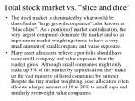 total stock market vs slice and dice