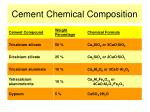 cement chemical composition