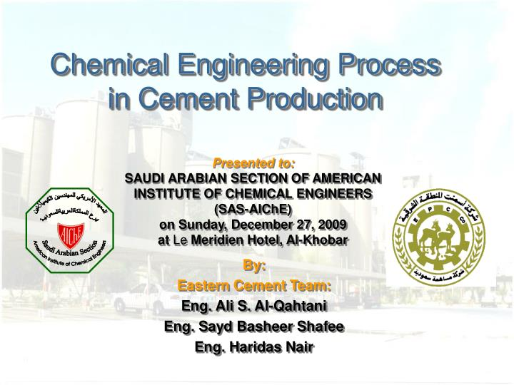 chemical engineering process in cement production n.