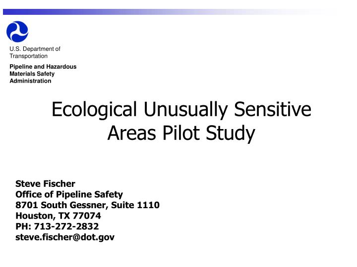 ecological unusually sensitive areas pilot study n.