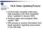 hca data updates future