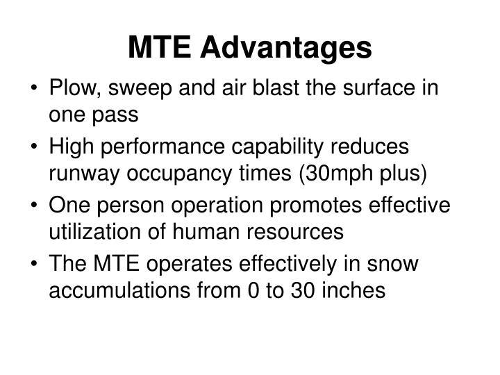 MTE Advantages