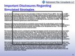 important disclosures regarding simulated strategies
