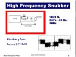 high frequency snubber