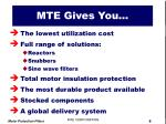 mte gives you