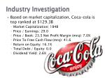 industry investigation