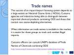 trade names