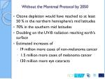 without the montreal protocol by 2050