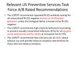relevant us preventive services task force a b rated recommendations6