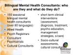 bilingual mental health consultants who are they and what do they do