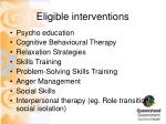 eligible interventions