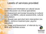 levels of services provided