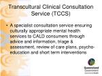 transcultural clinical consultation service tccs