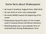 some facts about shakespeare