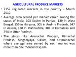 agricultural produce markets