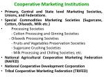 cooperative marketing institutions