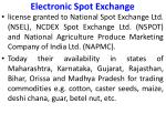 electronic spot exchange