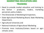 marketing education and training