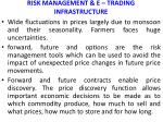 risk management e trading infrastructure
