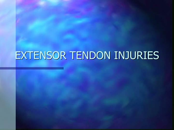 extensor tendon injuries n.